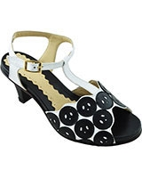 Heeled Sandal 13/34 5cm White/Black - Oryx