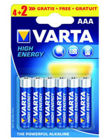 Alkaline High Energy 4+2AAA Blister Battery 4903 - Varta