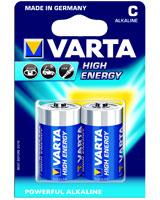 Alkaline High Energy 2C Blister Battery  4914 - Varta