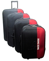 Hong xing Travel Set Bag 4 Pieces Black Red