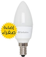 LED Candle Frosted E14 4.5W Warm White - Verbatim