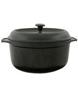 Cast Iron Round Casserole Black 24cm - Pyrex