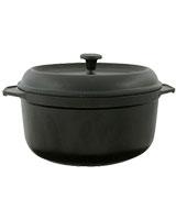Cast Iron Round Casserole Black 28 cm - Pyrex