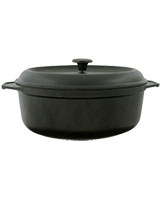 Cast Iron Oval Casserole 31 cm Black - Pyrex