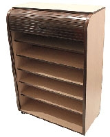 Large Rolling Cabinet Chocolate - Rolling-C