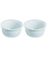 Set Of 2 Ceramic Ramekins Impressions 9 cm White - Pyrex