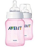 Feeding Bottle Classic+ 2 Pieces 260 ml Pink - Philips Avent