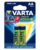 Longlife Accu 2AA 1600 mAh 56716 rechargeable battery - Varta