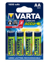 Longlife Accu 4AA 1600 mAh 56716 rechargeable battery - Varta