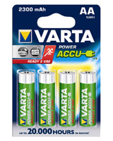 Power Accu  4AA 2300 mAh rechargeable battery 56726 - Varta