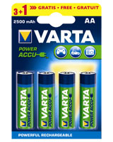 Power Accu 3+1AA 2400 mAh rechargeable battery 56756 - Varta