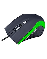 Mouse Black Green Wired MC-M5 - Modecom