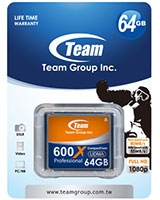 CF 600X 64GB Memory Card - Team