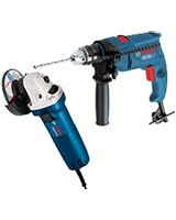 Impact Drill GSB 1300 Professional + Angle Grinder Professional GWS 6700 + Tool Bag - Bosch
