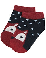 kids Socks 6201 Dark Navy/Dark Red - Solo