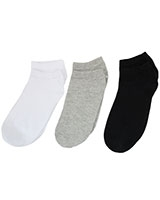 Casual Pack of 3 Socks 5983/1 Grey/White/Black - Solo