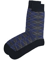 Casual Lycra Socks 6265 Blue - Solo