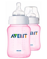 Feeding bottle 2 Classic 260ml Pink - Philips Avent