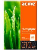 Photo Paper Value A6 210 g/m2 100pack Glossy - ACME