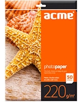 Photo Paper A4 220 g/m2 50pack Matte DS - ACME