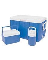 Blue Combo Set : 51.1L Cooler + 8.5L Cooler + 1.8L Jug - Coleman