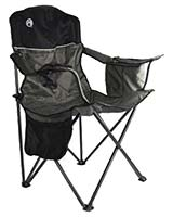 Oversized Cooler Quad Chair Grey and Black - Coleman
