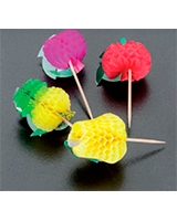 12 Pcs Fruit Picks Exotic Fruits - Metaltex