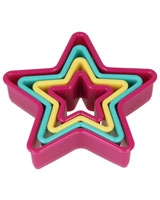 Set Of 4 Nesting Cookie Cutters Star Shapes - Metaltex