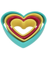 Set Of 4 Nesting Cookie Cutters Heart Shapes - Metaltex