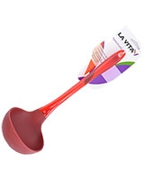 Red Silicon PS Handle Ladle Spectrum - La Vita