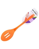 Orange Silicon PS Handle Slotted Spoon Spectrum - La Vita