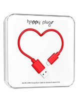 Charge/Sync Micro USB Cable Red 2m - Happy Plugs