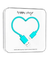 Charge/Sync Micro USB Cable Turquoise 2m - Happy Plugs