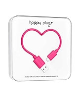 Charge/Sync Micro USB Cable Cerise 2m - Happy Plugs