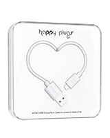 Charge/Sync Micro USB Cable White 2m - Happy Plugs