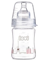 Retro Girl Diamond Glass Bottle 0+ Month 150 ml 74/102 - Lovi
