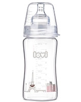 Retro Girl Diamond Glass Bottle 3+ Month 250 ml 74/202 - Lovi