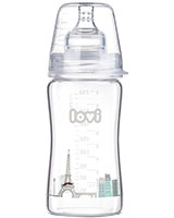 Retro Boy Diamond Glass Bottle 3+ Month 250 ml 74/203 - Lovi