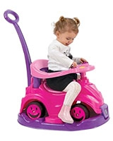 Smile Car 2 In 1 Pink - Dolu