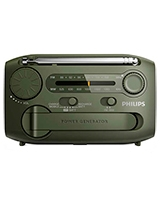 Portable Radio FM/MW Analogue Tuning Micro USB Port For Charging Flashlight AE1120 - Philips