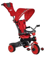 Baby Tricycle 3 In 1 Red T Handle Dome Canopy Bag  Red - Trike Star
