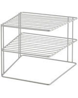Corner Rack 2 Tier Metallic 25 cm  Palio - Metaltex