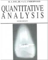 Quantitative Analysis 6th Edition