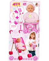 4 In 1 Tiny Baby Set: Stroller Doll Set 98517 - Loko Toys