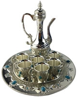 Tea Set AS1310-238 With Blue Stones