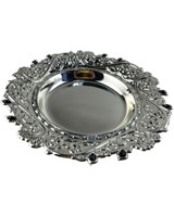 Silver Plate AS2138-237 With Black Stones