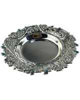 Silver Plate AS2138-237 With Blue Stones