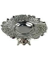 Silver Plate AS2401-234 With Black Stones