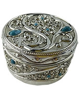 Jewellry Box With Blue Stones AS2572-307
