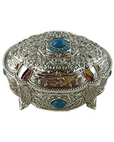 Jewellry Box With Blue Stones AS2611-302